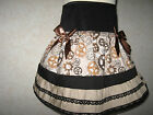 NEW Girls Black Brown Cogs Gears Party Gift Skirt Steampunk Goth rock Dance