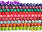 "Multi-Color Round Sea Sediment Jasper Jewelry Making Beads Gemstone15""Size Pick"