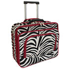 All-Seasons Fashion Print Women's Rolling 17-inch Laptop Case - Red Zebra Trim