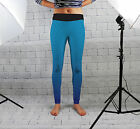 Blue Geometric Print Design Womens Spandex Leggings Gym Fashion Yoga Made In Uk