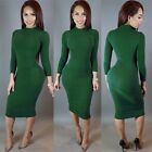 Sexy Women lady Long Sleeve Casual Bandage Cocktail Winter Evening Party Dress