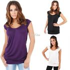 Fashion Summer Holiday Ladies Women Hip Long Line Blouse Tops T Shirt well S0BZ