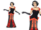 Glamorous Vampiress Ladies Halloween Vampire Fancy Dress Outfit 8-18