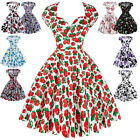 Vintage Party 1950s 60s Pinup Prom Cocktail Swing Casual Housewife Fancy Dress