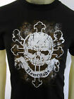 Renegade Skull bones biker party tee shirt men's black Choose A Size
