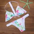 Women girls charming Floral Print Swimsuit Bikini Flower Swimwear popular B20E