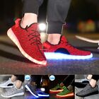 2016 Unisex LED Light Lace Up Luminous Shoes Sportswear Sneaker Casual Shoes NEW