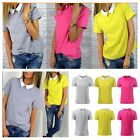 2016 Womens Casual Chiffon short sleeve top shirt blouse New uk size 6-12 YG