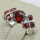 Size 6 7 8 8.5 Classy Nice Garnet Red Jewelry Gems Gold Filled Woman Ring K332