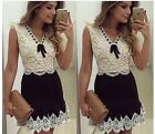 summer new style sleeveless lace cording women's dress one-piece Y-442
