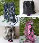 FREE SHIPPING QUILTED COTTON DRAWSTRING BACKPACK SWIMMING BAG COLOR OPTIONAL