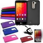 Phone Case For LG Phoenix 2 / LG Escape 3 4g LTE Hard Cover Film Car Charger