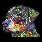 Rottweiler Neon Ladies Womens Tank Top Pick Your Size