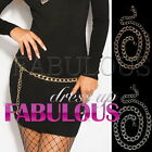 SEXY WOMEN'S CASUAL CLUBBING CHAIN BELT JEANS JUMPER ACCESSORIES Size 6 8 10 12