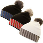 Oscar Jacobson Mens Pete Golf Hat Bobble Beanie Wooly Winter Pom Pom