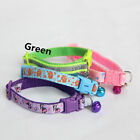 Soft Glossy Reflective Collar Safety Buckle Pet Dog Puppy Cat Collar with Bell