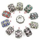 Full Crystal Big Hole Charms Basic Spacer Beads Fit Women Charm Bracelet Bangle