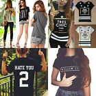 2016 Women Sexy Short Sleeve Blouse T-Shirt Tops Shirt Casual Basic Tee AU 8-16