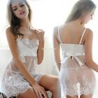 Women's Lingerie Babydoll Sleepwear Underwear Lace Dress G-string Nightwear N24H