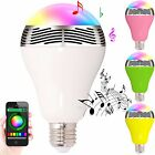 3W E27 Bluetooth Control Music Audio Speaker LED Changing Color Bulb Light Lamp