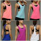 Women Summer Sexy Open Side Sleeveless Loose Casual Sport Tank Top T-Shirt New