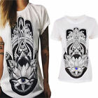 New Summer Womens T-shirt Loose Short Sleeve Cotton Casual Blouse Shirt Tops