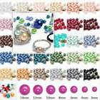 3/4/6/8/10/12/14mm Loose Round Beads Glass Pearl Jewelry Charms DIY 30 Colors
