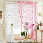 Room Divider Butterfly Print Sheer Curtain Panel Window Balcony Tulle Decors S