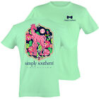 Simply Southern Preppy T-Shirt - Fun Giraffe on Julep with Flowers