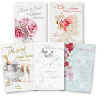 60th 60 Diamond Wedding Anniversary Greeting Card Mum & Dad Wife Husband