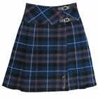 "Tartanista Long Honour Of Scotland Purple Tartan 23"" Wrap Kilt Skirt"