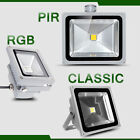 2 X 10W/20W/30W/50W LED COB Floodlight Waterproof Pir Sensor warm/day white/rgb