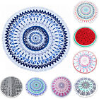 Large Round Beach Towel Fringed Light 100% Cotton Summer Pool NEW