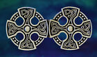 St. Brynach's Cross Celtic Cloak Clasp | Medieval | Renaissance | Pewter Clasps