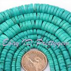 """Natural Button Blue Turquoise Gemstone For DIY Jewelry Making Beads 15""""Pick Size"""
