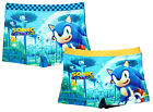 Boys Sonic The Hedgehog Colours Swim Boxer Shorts Trunks 3 to 8 Years