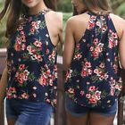 Fashion Women Summer Floral Vest Top Sleeveless Blouse Casual Tank Tops T Shirt