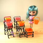 Miniature Dollhouse Department Petite BLYTHE PULLIP Shopping Cart Trolley Basket