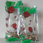 10 Ladybirds Patterned Cellophane Gift Bags *Choose Size* Easter Cellophane Bags