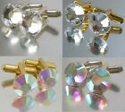 Gold/Silver/Quantities Wedding Crystal Cufflinks  made with SWAROVSKI ELEMENTS