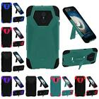 For ZTE Imperial Max Z963U Kirk Z988 Premium Dual Layer T Kickstand Cover Case