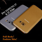 Front+Back Real Full Body Sticker Cover Skin For Galaxy S7 G9300 & S7 Edge G9350