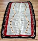NAVAJO AMERICAN INDIAN HANDMADE Rug LARGE OLD