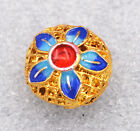 8x14mm cloisonne beads Buddhist lotus character Jewelry accessories gifts #9