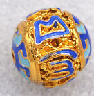 12mm cloisonne beads Buddhist Tibet character Jewelry accessories gifts #23