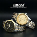 Mens Luxury Business Watches Stainless Steel Quartz Analog Round Dial Watch New