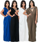 NEW Womens Grecian VNeck Sleeveless Long Maxi Dress S M L XL 2X