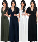 NEW Womens Elegant Batwing Sleeve Cocktail Plus Size Maxi Dress S M L XL 2X