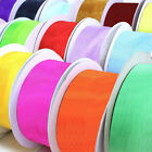 DOUBLE SIDED ORGANZA RIBBON - 38MM, 15MM & 9MM WIDTHS - ROLLS / SPOOLS / CRAFTS