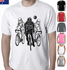 Funny Star wars T-Shirts Darth Vader cycling storm troopers bicycle Singlet Size $22.49 AUD